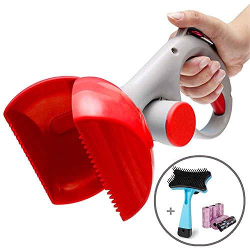 Pooper Scooper – Cat Litter Mate – Portable Pet Waste Scoop – Ndoor Or Outdoor Waste Pickerpet Poop Clamp( Free Pet Brush 6 Roll Poop Bags )