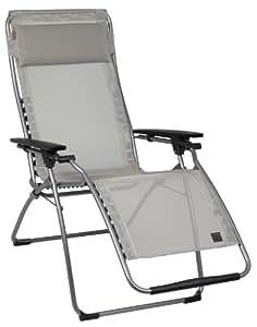 Amazon Com Lafuma Futura Zero Gravity Chair Grey Steel