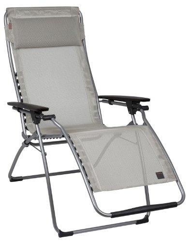 Lafuma Futura Zero Gravity Chair, Grey Steel Frame, Seigle