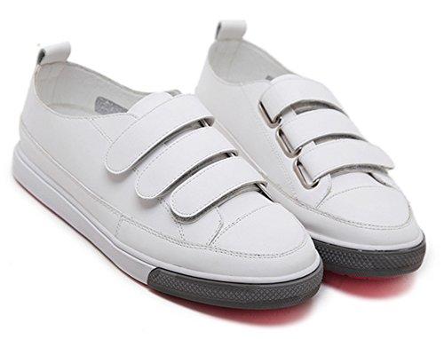 Scratch Plat Couleur Aisun Baskets Sneakers Blanc Femme Confort Unie Talon pwRwqZ4E