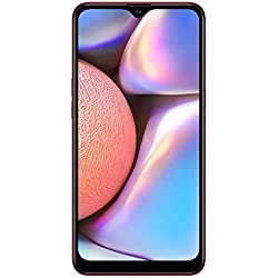 """Samsung Galaxy A10s with Fingerprint (32GB, 2GB RAM) 6.2"""", Android 9.0, Dual SIM GSM Factory Unlocked A107M/DS - US + Global 4G LTE International Model (Red, 32GB + 64GB SD Bundle)"""