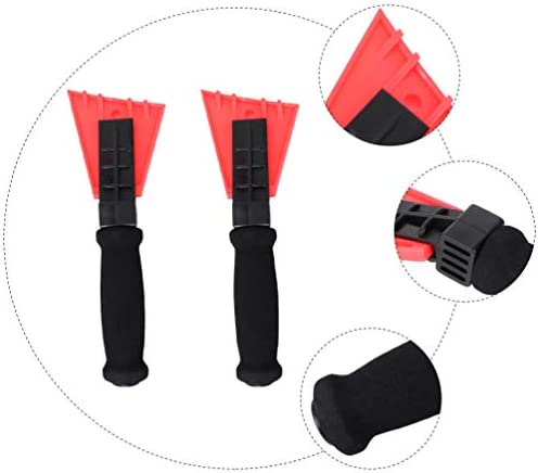 Happyyami 2Pcs Ice Snow Scraper Frost Scrape Snow Remover Multi- Function Snow Shovel Tool Emergency Tool for Defrosting and Snow Removal