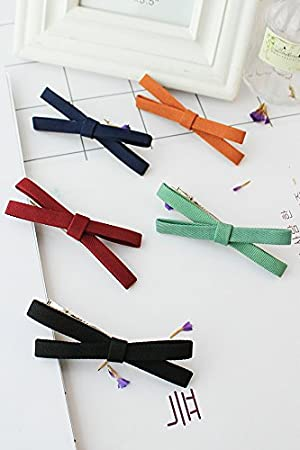 amazon co jp 4単位 unique bow hairpin unique fabricエッジ