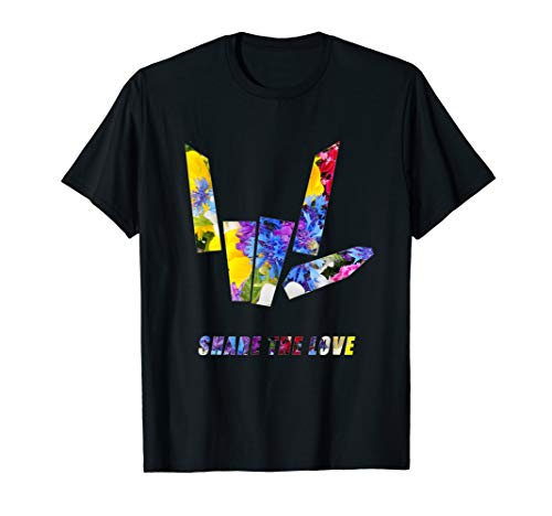 Share the Love flowers T-Shirt Gift for Men Women Kids