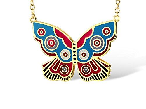 Laurel Burch Goldtone Summer Butterfly Pendant W/ Necklace - Ashbury Pendant