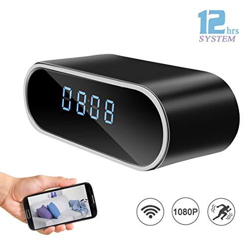 (DareTang HD 1080P WiFi Hidden Spy Camera Alarm Clock Night Vision/Motion Detection/Loop Recording Home Surveillance Cameras)