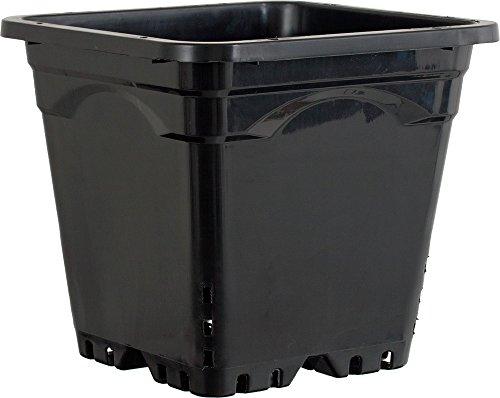 Active Aqua HG12X12SB Square Pot (24 Pack), 12 by 12'', Black by Hydrofarm