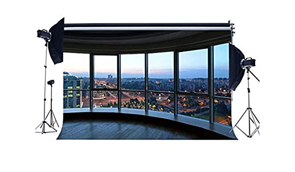 vrupi 7X5FT Oficina Despacho Fondo Rascacielos Moderno Edificio ...