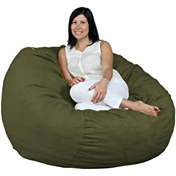 Amazon Com Cozy Sack 4 Feet Bean Bag Chair Large Olive