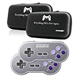 8Bitdo SN30 2.4G Wireless Controller Double-Pack Bundle with Bonus Hard Carrying Case - NES, SNES, SFC Classic Edition