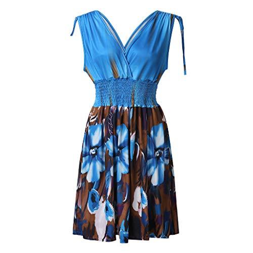 Xinantime Summer Beach Dress Women Plus Size Dress Backless for Ladies Party Evening Dress Light Blue (Nike Belted Belt)