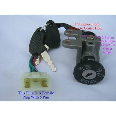 Scooter Ignition Switch Key Set 49 50 cc TaoTao Peace Roketa Jonway NST Tank Gy6: Automotive