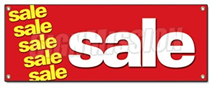 amazon com sale banner sign clearance retail sign signs garden