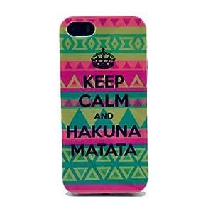 LZX Tribal Carpet Hakuna Matata Pattern Hard Cover Case for iPhone 5/5S