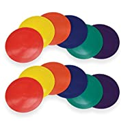 """American Educational Products Marker Rounds, 9"""", Assorted Colors, 2 Sets of 6 (12 Pieces)"""