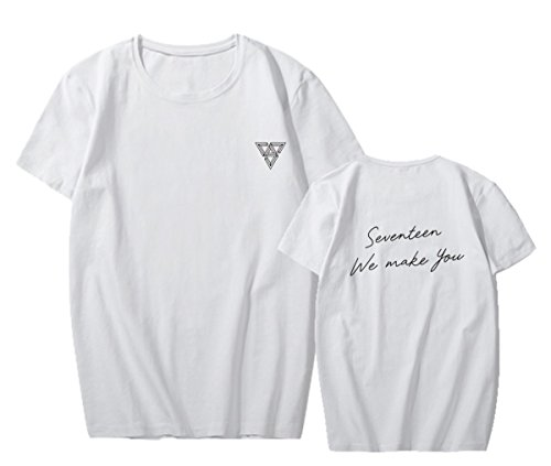 - ACEFAST INC Kpop SEVENTEEN T-Shirts Album We Make You Vernon The8 DK Round Neck Tops
