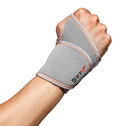 BraceUP® Adjustable Wrist Support, One Size Adjustable (Silver), 1 PC ()