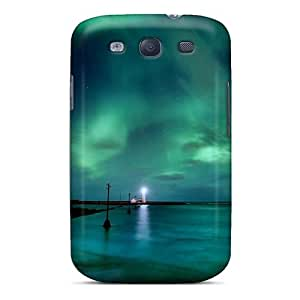 Galaxy S3 Aurora Borealis Print High Quality Tpu Gel Frame Case Cover