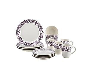 Rachael Ray 16-pc. Scroll Stoneware Dinnerware Set