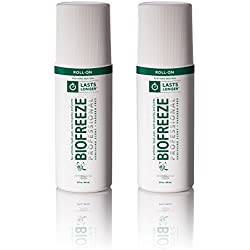 Professional Pain Relief Gel, 3 oz. Roll-On Applicator, Original Green Formula, Pain Reliever (Pack of 2)