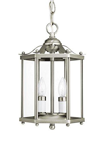 Bretton 2 Light (Sea Gull 5232EN-962 Bretton Semi Flush, 2-Light 7 Total Watts, Brushed Nickel)