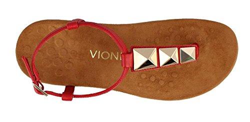 VIONIC Nala, Sandalias con Tira de T Para Mujer Rojo (Red)