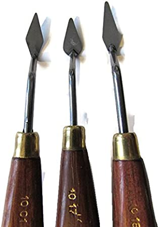 Palette Knifes With Wooden Handles #1004-1005  Made in Italy 2-Artist Quality