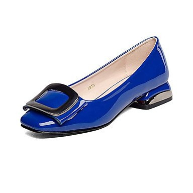 LvYuan-ggx Da donna Tacchi Scarpe formali Finta pelle Primavera Autunno Scarpe formali Quadrato Bianco Nero Blu Tessuto almond 12 cm e oltre, blue, us5.5 / eu36 / uk3.5 / cn35