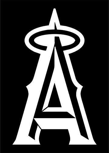 ShopForAllYou Stickers & Decals (Matte White) Los Angeles LA Angels MLB Logo Team Baseball Vinyl Decal Sticker Car ()