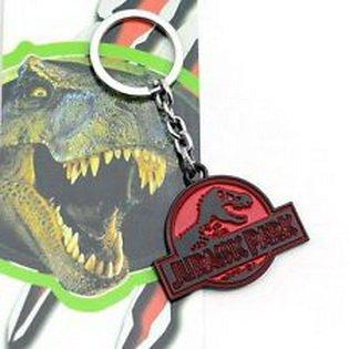 Super18 game® Jurassic Park Tyrannosaurus Rex Dinosaur Logo Pendant Hangings Keychain Keyring