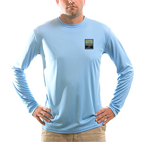 American Backcountry Men's Range of Light UPF Long Sleeve T-shirt XX-Large Columbia Blue