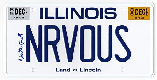 Matthew Broderick Signed Ferris Bueller's Day Off 'NRVOUS' Illinois License Plate ()