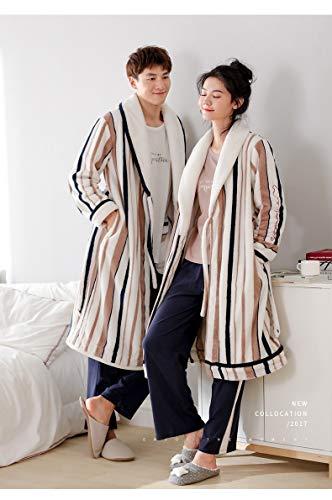 Bañonuevo Pijamas Encaje L165 160 50kg De Bathrobex Mujeres 165cm Bata M Camisón 70kg Cómodo 170cm60 Felpa Cálida 40 qnAcE8Tc