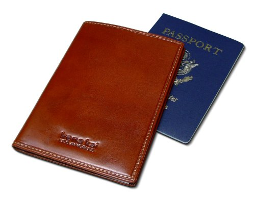 DataSafe Italian Leather Passport Wallet with RFID Identity Theft Security Feature (Brown) (Passport Security Wallet Leather)