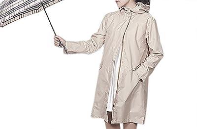 QZUnique Women's Fashion Outdoor Packable Rain Jacket Poncho Raincoat with Hood