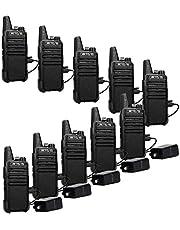 Retevis RT22 Two Way Radios Rechargeable Walkie Talkies 16 CH VOX Channel Lock Emergency Alarm 2 Way Radio(10 Pack)