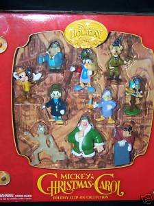 disney holiday mickeys christmas carol set of 10 figures - Mickeys Christmas Carol