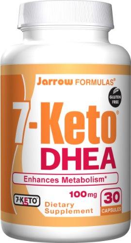 Jarrow Formulas Sept (7)-Keto DHEA (déhydroépiandrostérone), 100mg, 30 capsules