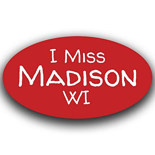 More Shiz I Miss Madison Wisconsin Decal Sticker Travel Car Truck Van Bumper Window Laptop Cup Wall One 5.5 Inch Decal MKS0492