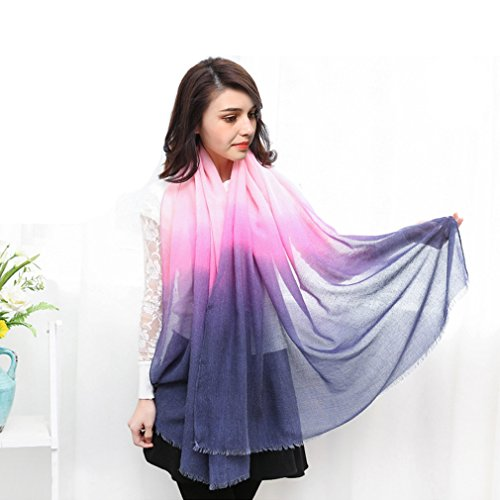 Silk Hip Sheer Square Winter Gradient Scarf Outdoor Travel Blank Scarf Shawl (Sheer Linen Silk)