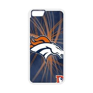 Denver Broncos Team Logo iPhone 6 Plus 5.5 Inch Cell Phone Case White 218y3-196657
