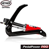 HEYNER Premium - Bomba de pedal con manómetro