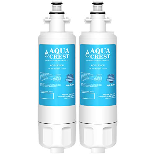 AQUACREST Refrigerator Water Filter, Compatible with LG LT700P, Kenmore 9690, 46-9690, ADQ36006101, ADQ36006102 (Pack of 2)