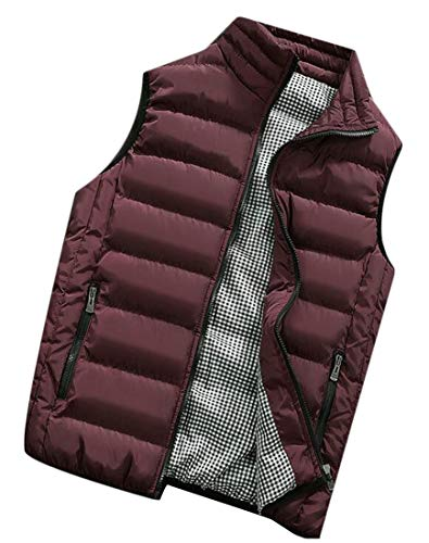 Red Jacket EKU Vest Lightweight Down Casual Collar Wine Vest Stand Men's nqq7wPv6p