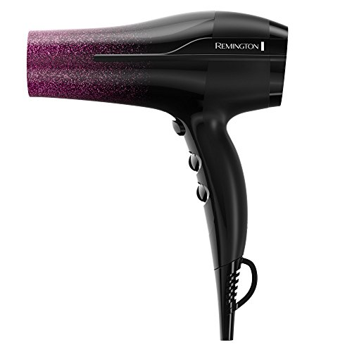 Remington Ultimate Smooth Hair Dryer with Titanium + Ionic + Ceramic Technology, Black/Purple, D5950