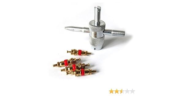 Silverline 380568 Juego para reparaci/ón de v/álvulas de neum/áticos 14 pzas 0,6-3,5 Bar