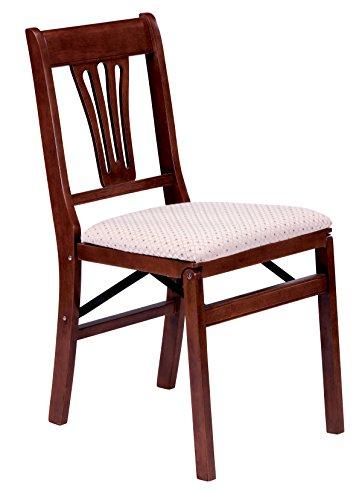 (Stakmore Urn Back Folding Chair Finish, Set of 2, Cherry)
