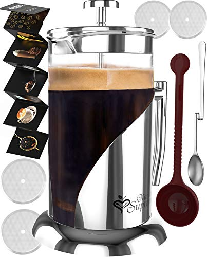 French Press Coffee & Tea Maker Complete Bundle | 34