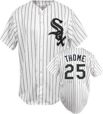 Jim Thome White Sox Pinstripe MLB Replica Jersey