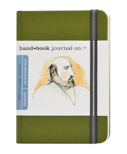 (Travelogue Drawing Book, Pocket Portrait 5-1/2 x 3-1/2, Cadmium Green Artist Journal)